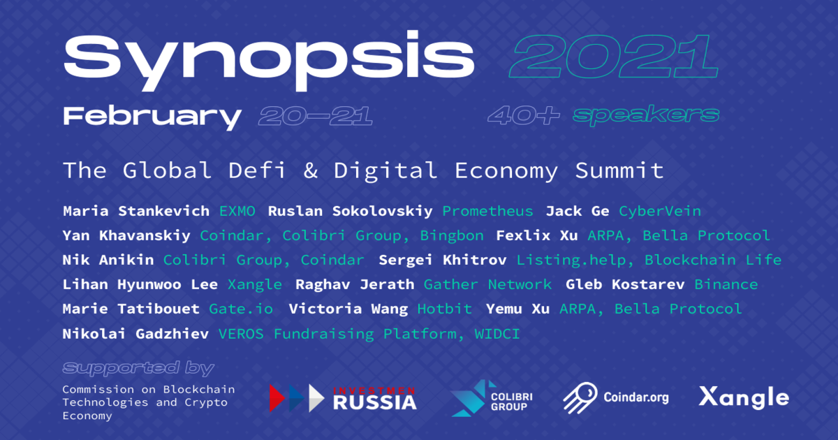 Synopsis 2021. The Global DeFi & Digital Economy Summit