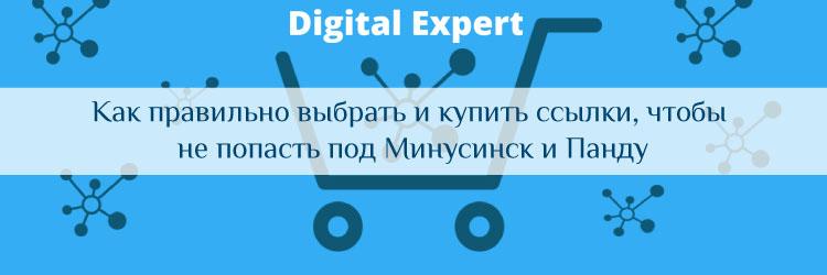 Как правильно выбрать и купить ссылки, чтобы не попасть под Минусинск и Панду