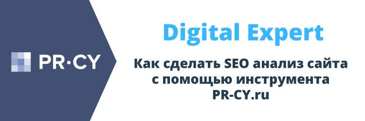 Как сделать SEO анализ сайта с помощью инструмента PR-CY.ru