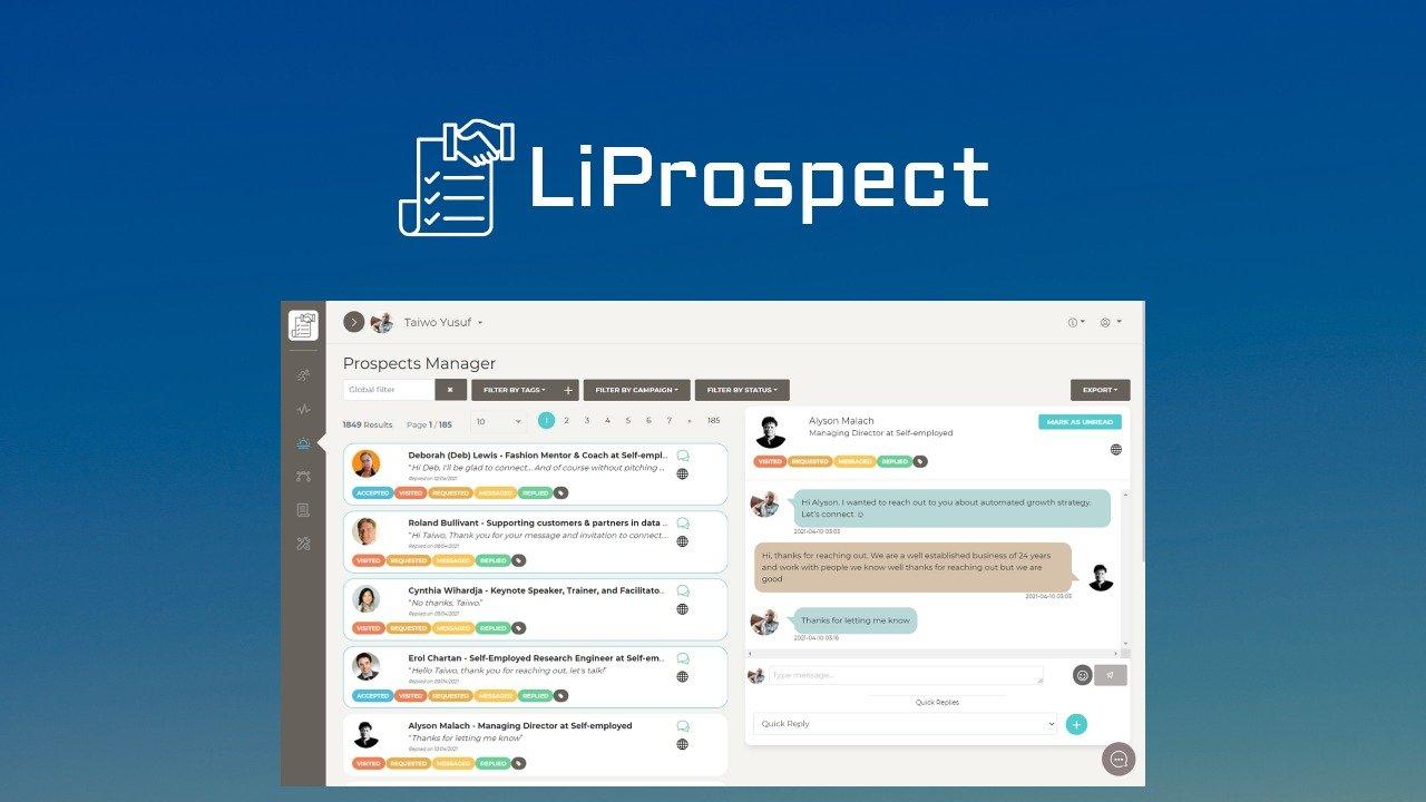 Спецпредложение для LiProspect - лучшая цена на рынке