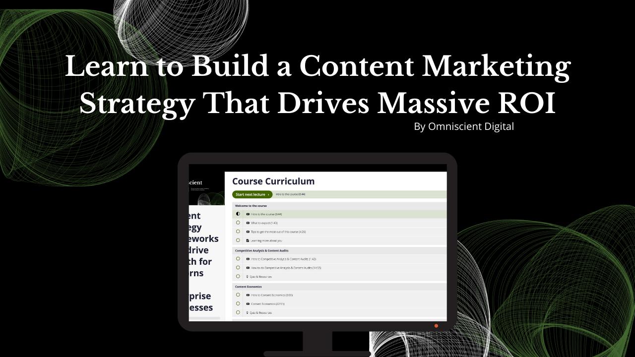 Спецпредложение для Advanced Content Marketing Strategy Course - лучшая цена на рынке