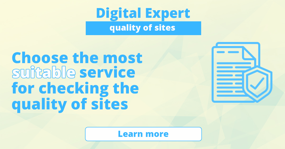 The best services for checking the quality of sites