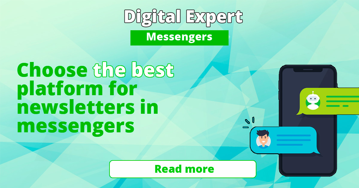 The best services for mailing in messengers