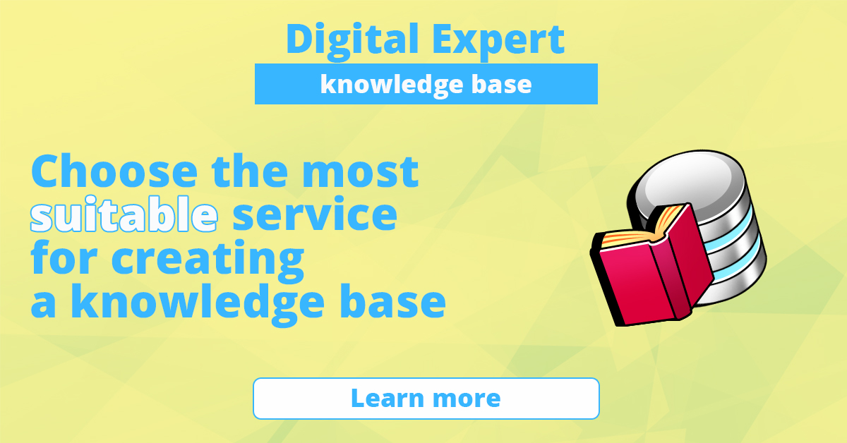 The best solutions for creating a knowledge base